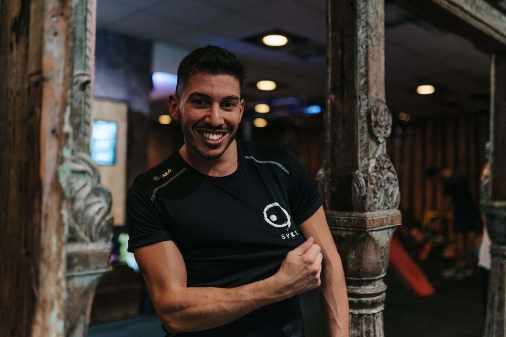 friendly sport guy smiling